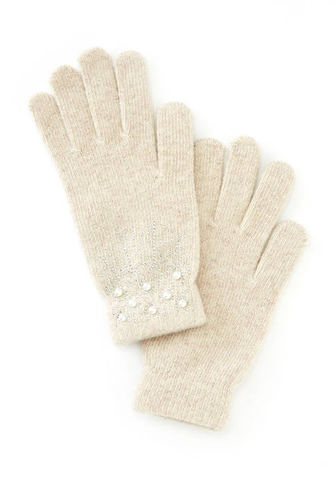 New Directions® Womens Pearl Gloves