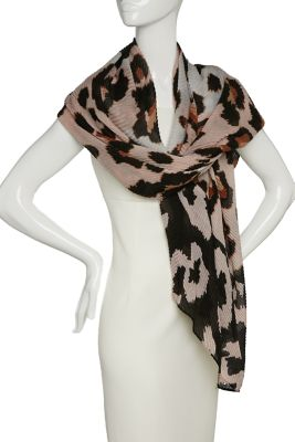 New Directions® Over Sized Leopard Pleated Day Wrap Blush FyMy3