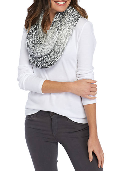 Soft Ombre Knit Infinity Scarf