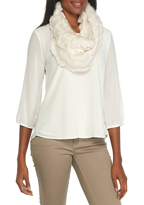 New Directions® Solid Waves Infinity Scarf