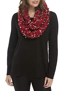 Speckled Knit Infinity Scarf