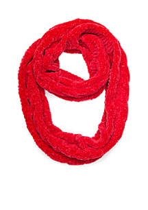 Solid Chenille Cable Infinity Scarf