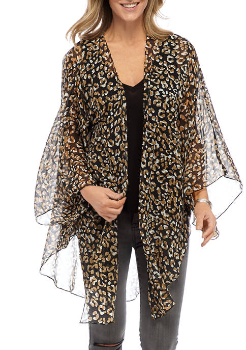 New Directions® On the Prowl Luxe Kimono Topper