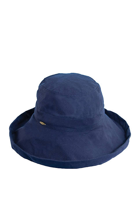 Dorfman Scala Cotton Widebrim Hat