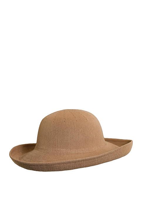 Dorfman Scala Upturn Hat with Wide Brim