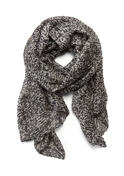 New Directions® Crinkle Animal Print Neck Wrap