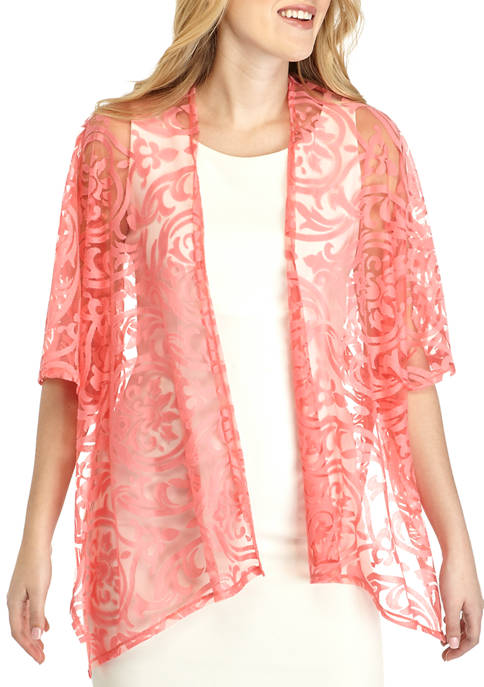 New Directions® Burnout Floral Topper