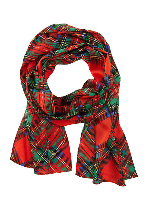 New Directions® Oblong Diagonal Plaid Scarf