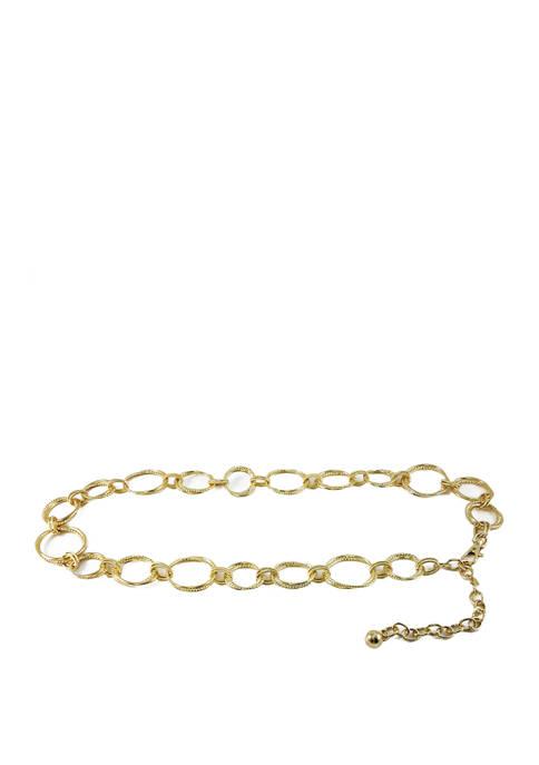 Textured Multi Circle Chain Belt