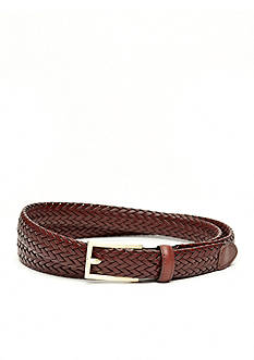 New Directions® Leather Braided Belt