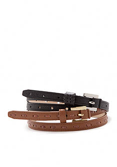 New Directions® Perforated and Laced Belt Set
