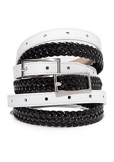 New Directions® Black and White Belt Set