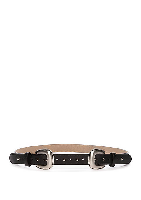New Directions® Double Buckle Front Belt with Domed