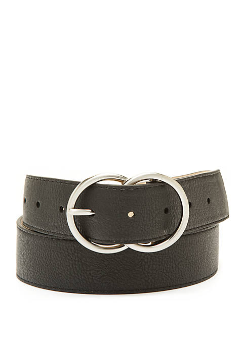 New Directions® Double Circle Buckle Belt
