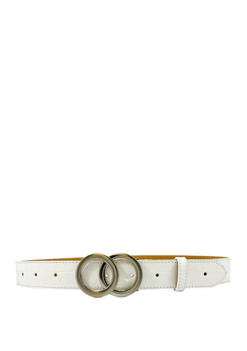 1.4 Inch End to End Perforated Belt with Double Circle Buckle