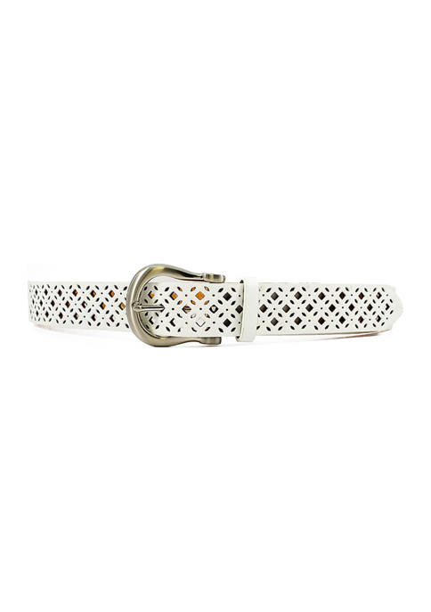 New Directions® Diamond Perforated Belk with Buckle