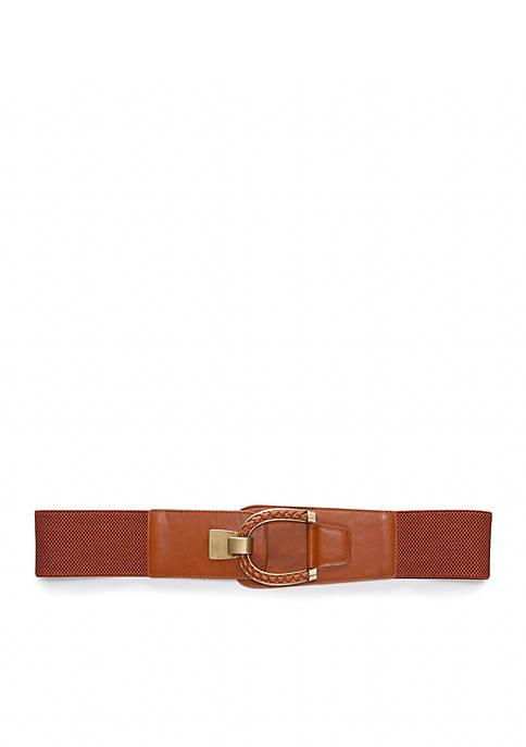 Smooth Stretch Braided Buckle Belt