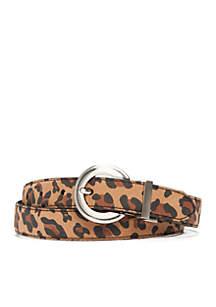 Reversible Leopard Print Belt