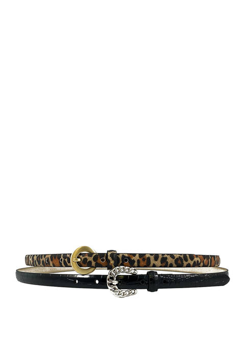 New Directions® Leopard Print Belt with Buckle and