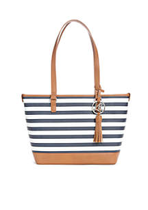 Key Item Stripe Tote