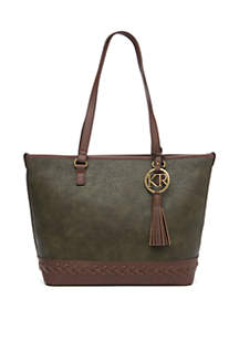 Kim Rogers® Tote with Braided Bottom