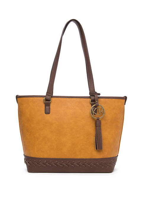 Tote with Braided Bottom