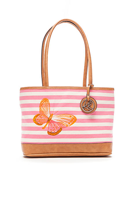 Kim Rogers® Butterfly Striped Tote