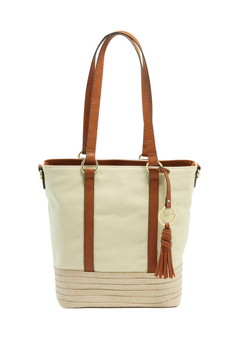 Kim Rogers® Key Item Tote with Straw Bottom