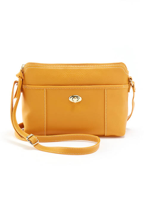 Kim Rogers® Turn Lock Crossbody