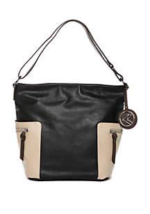 Colorblock Hobo Bag