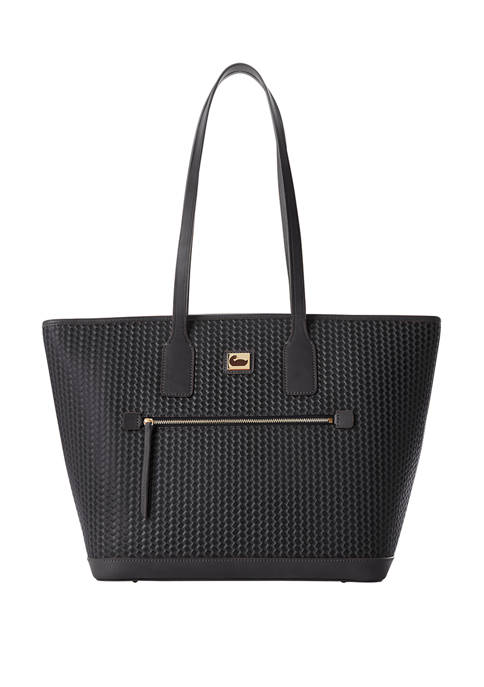 Dooney & Bourke Camden Woven Leather Tote Bag