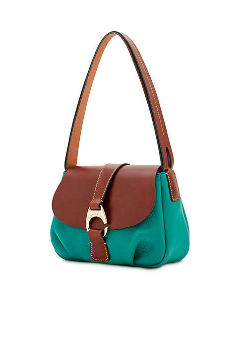 Dooney & Bourke Derby Pebble Large Flap Crossbody