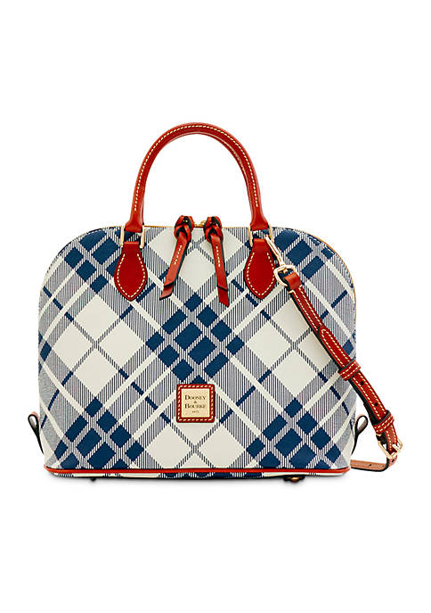Dooney & Bourke Plaid Zip Satchel