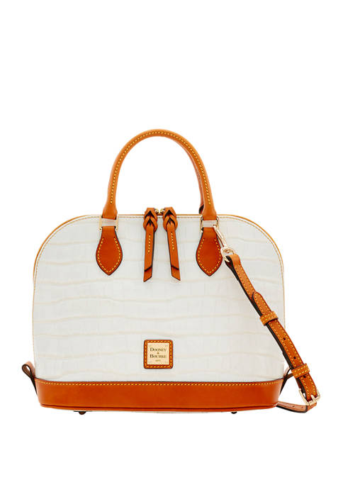 Dooney & Bourke Croco Zip Satchel