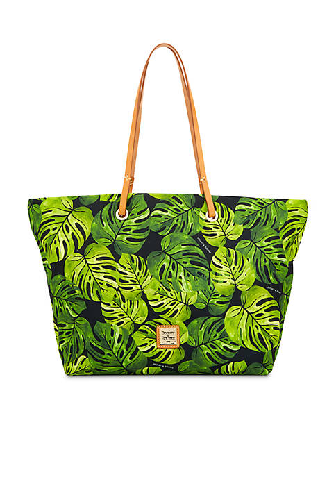 Dooney & Bourke Banana Leaf Print Nylon Tote