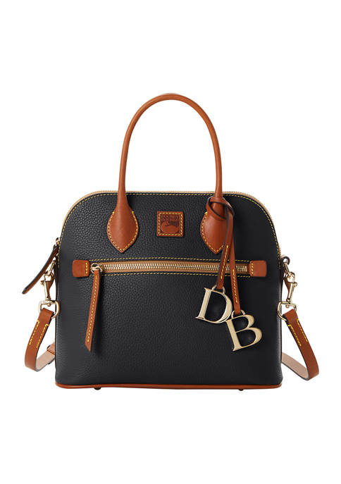 Dooney & Bourke Pebble Leather Domed Satchel