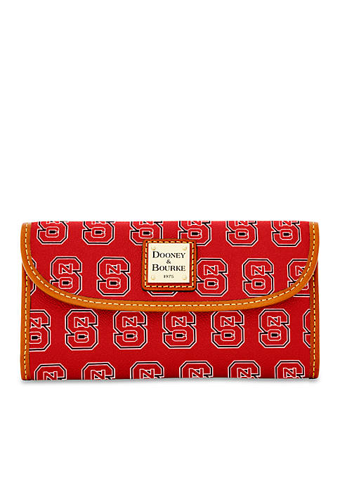 Dooney & Bourke NC State Continental Clutch Wallet
