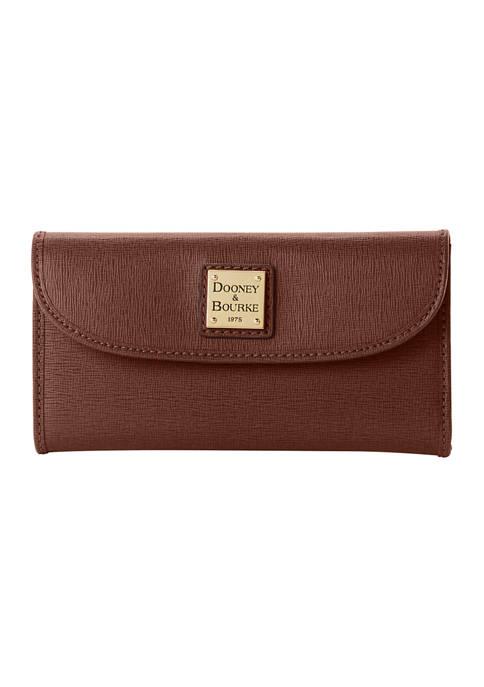 Saffiano Leather Continental Clutch