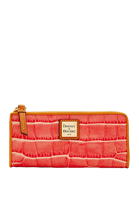 Dooney & Bourke Croco Zip Clutch Wallet