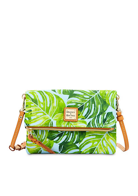 Dooney & Bourke Banana Leaf Nylon Foldover Crossbody