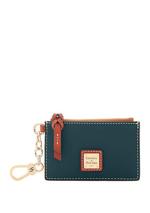 Dooney & Bourke Pebble Zip Top Card Case