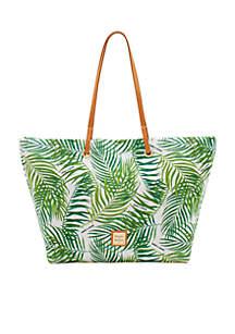 Palm Print Nylon Tote