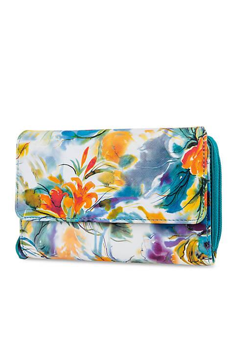Saffiano Floral My Big Fat Wallet