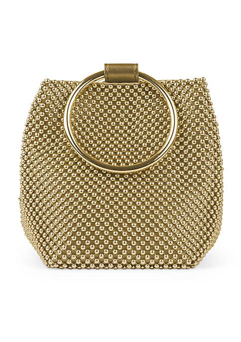 JESSICA MCCLINTOCK Gwen Ball Mesh Ring Bag