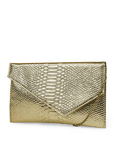 JESSICA MCCLINTOCK Embossed Snake Olivia Clutch