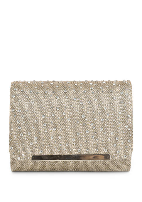 JESSICA MCCLINTOCK Katie Scattered Stones Clutch