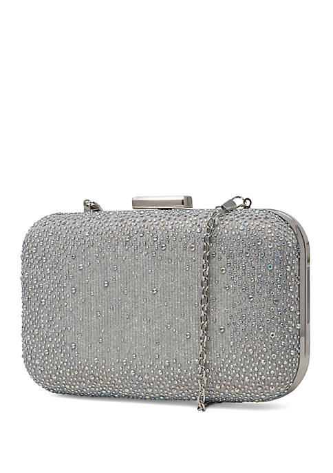 Molly Minaudiere Clutch With Scattered Rhinestones