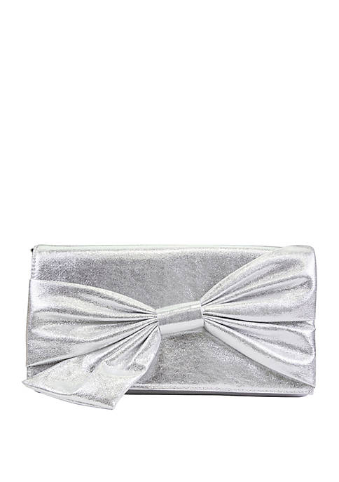 Mundi Vanessa Bow Flap Clutch Bag