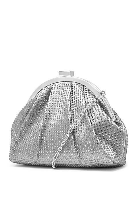Mundi Jessica Frame Allover Sparkle Clutch Bag