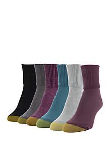 6-Pack Turn Cuff Socks